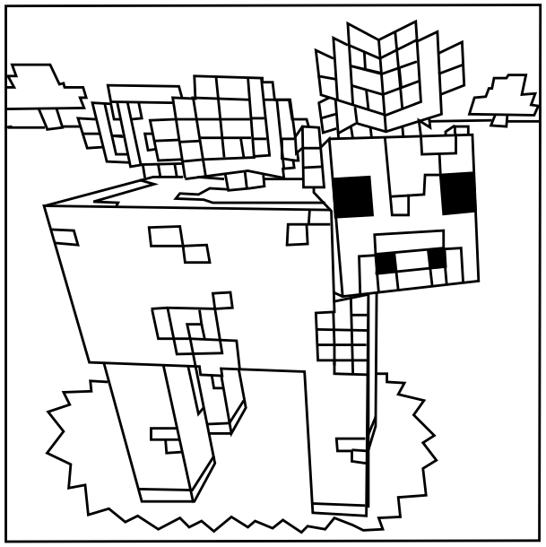 Minecraft Mooshroom Coloring Page Minecraft Coloring Pages Coloring Pages Coloring Pages For Boys