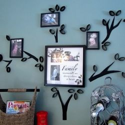 A round-up of fab cardboard tube wall art