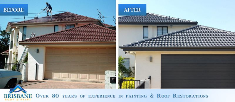 Brisbane Roof And Paint Before And After Roof Restoration And Roof Painting In 2020 Roof Restoration Roof Paint Restoration