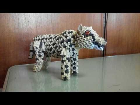 3d Origami Cheetah Quick Tutorial