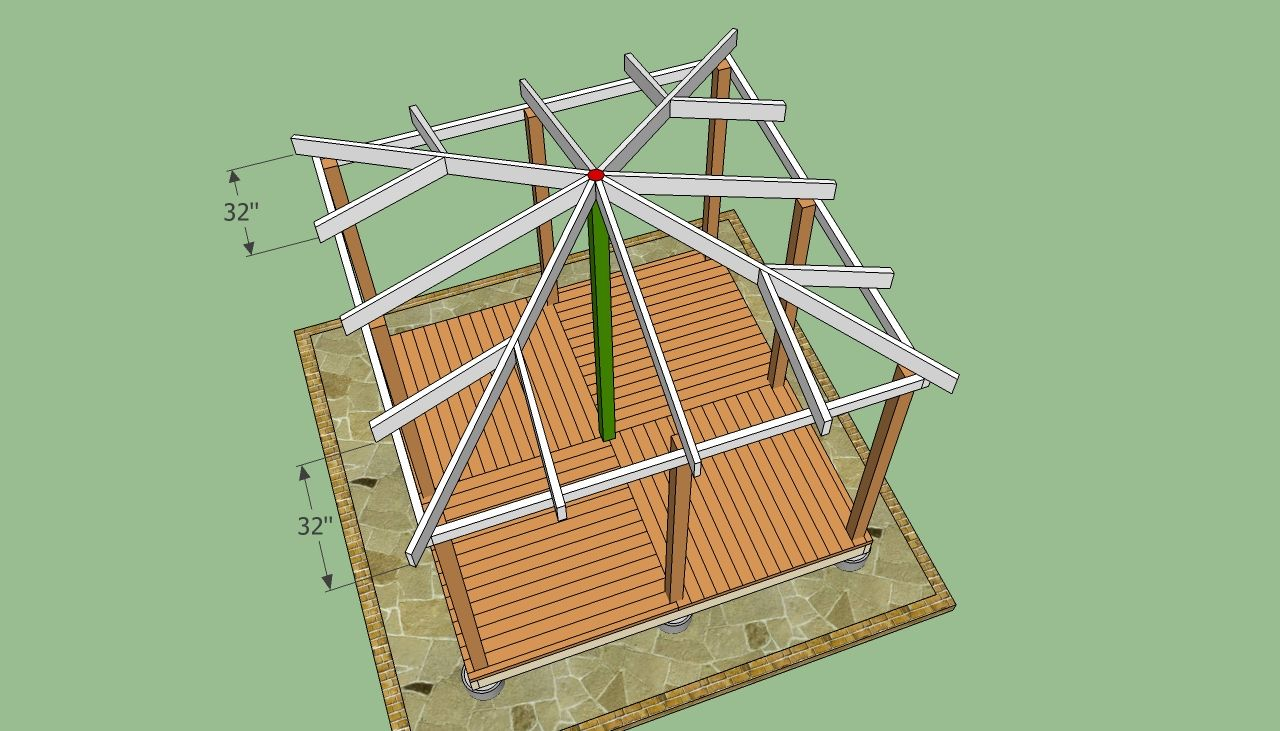 Wooden Gazebo Plans Howtospecialist How To Build Step By Step Diy Plans Gazebo Roof Wooden Gazebo Plans Wooden Gazebo