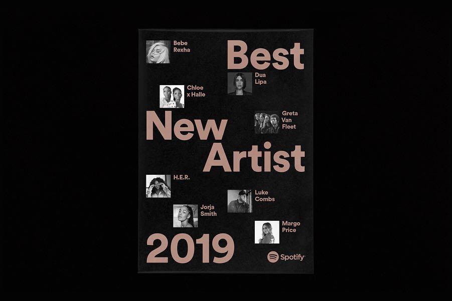 Felipe Rocha On Instagram New Work Design Direction For Spotify Best New Artist 2019 Huge Thanks To The Spotify Brand T New Artists Web Inspiration Spotify