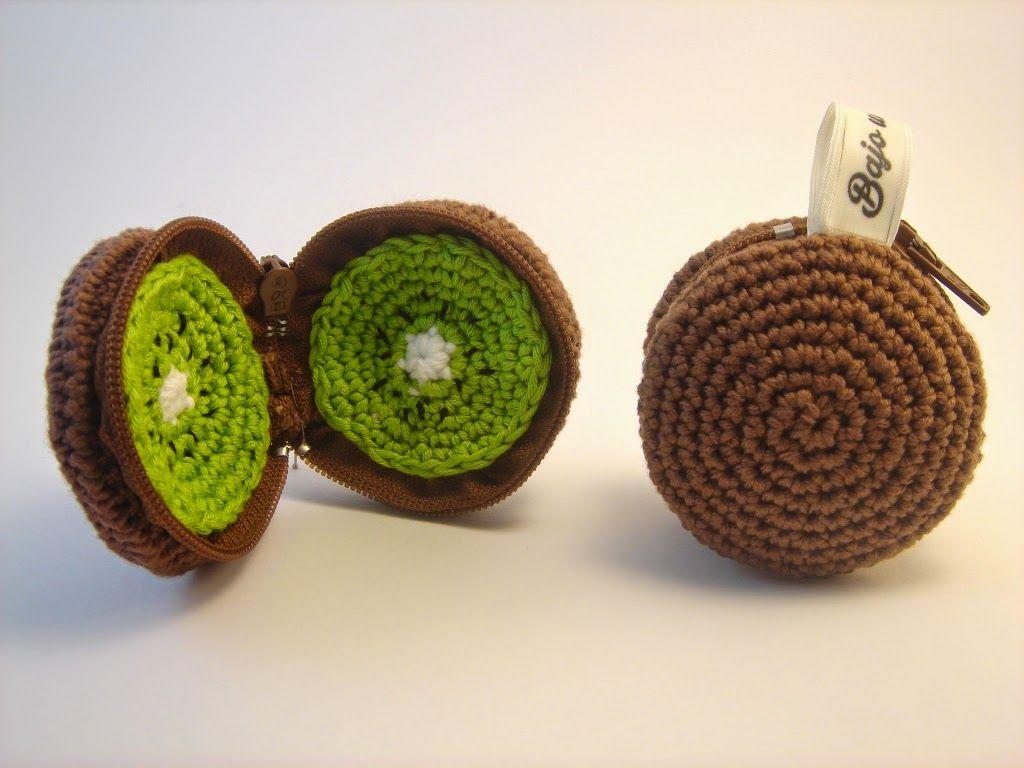 Bajo una seta: Monederos frutales   crochet   Pinterest   Setas ...