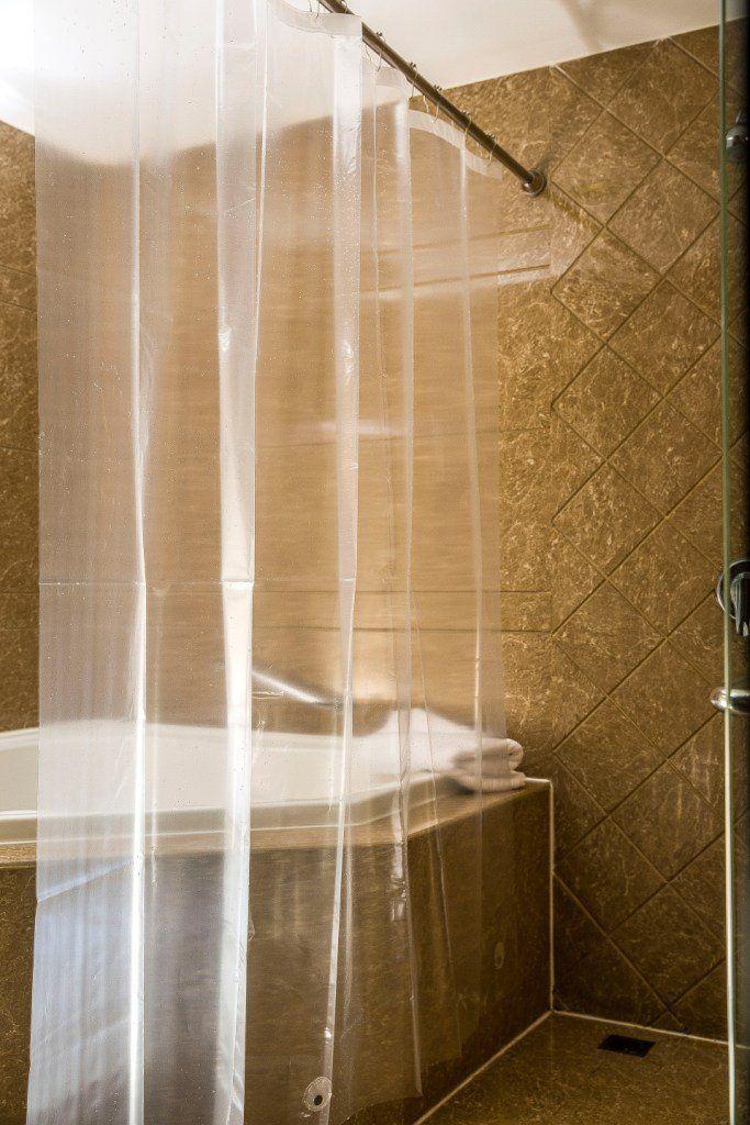 Amazon Com Caitlin White Clear Peva Shower Curtain Liner