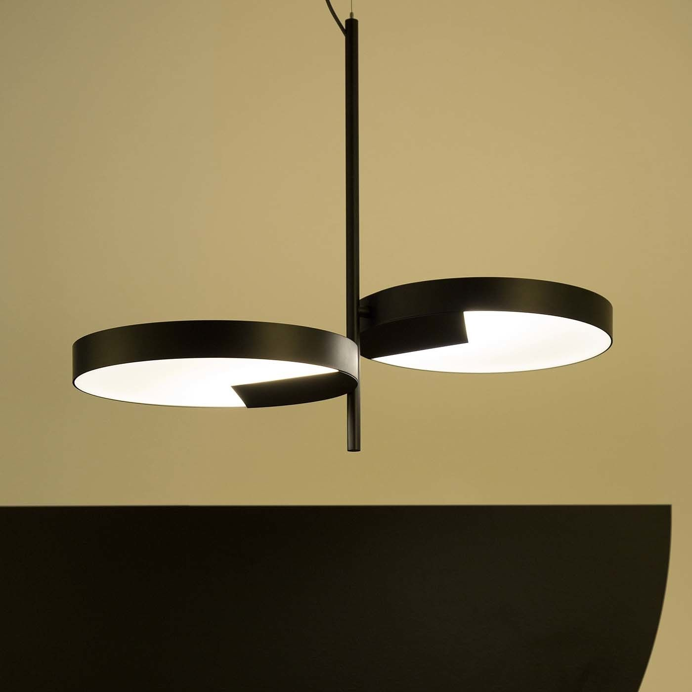 Moonlight 2 Light Black Ceiling Lamp By Matteo Zorzenoni Ceiling