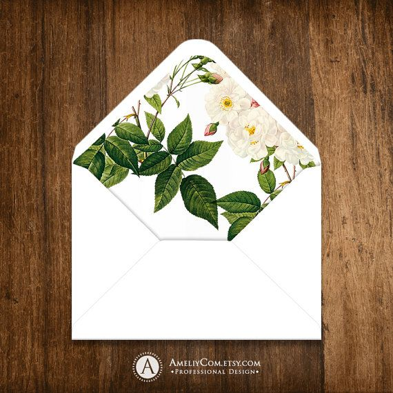 Printable Envelope Liner Template INSTANT DownLOAD by AmeliyCom