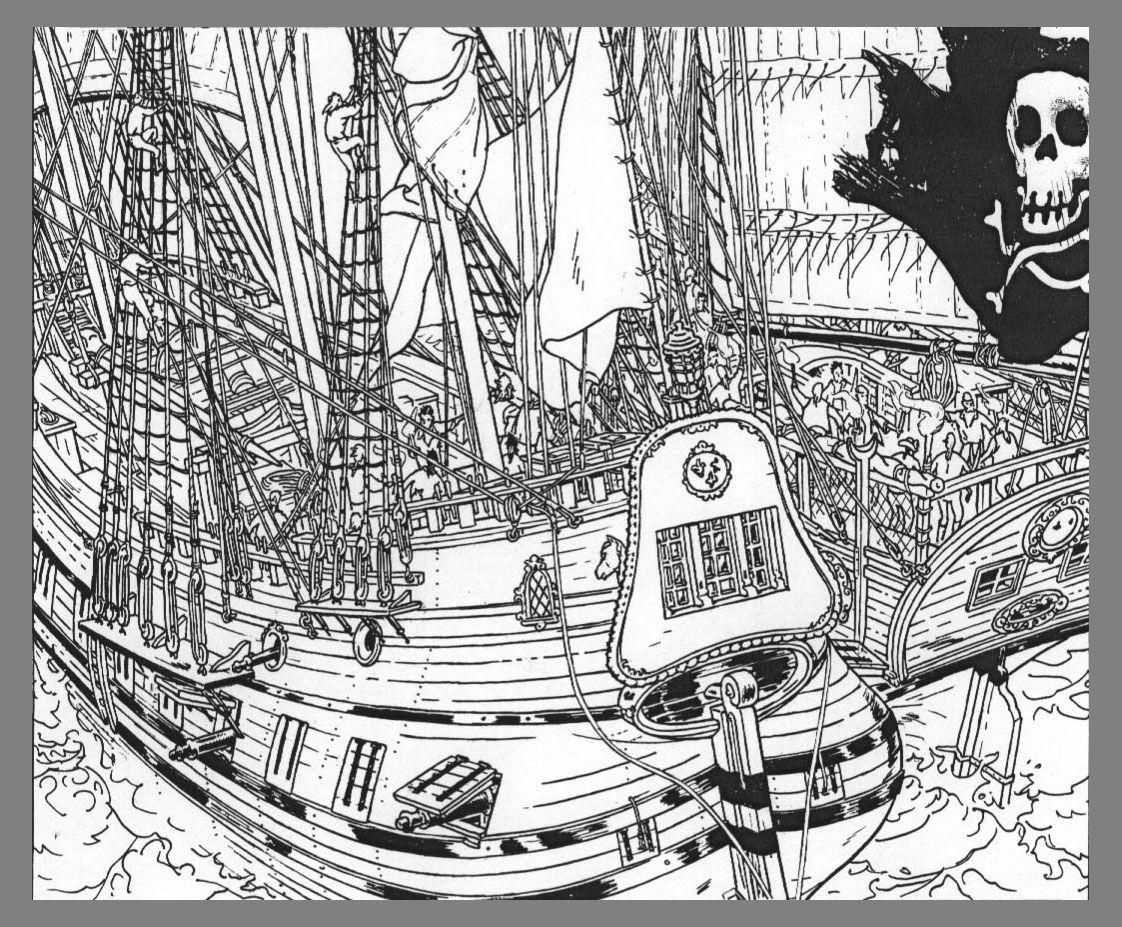 Photos dessin couleur bateau pirate page 9 coloriage - Coloriage bateau de pirate ...