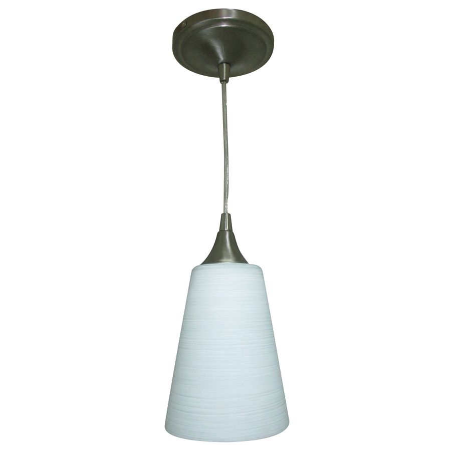 $30 Shop Portfolio 5.5-in W Polished Nickel LED Mini Pendant Light with Frosted Glass  sc 1 st  Pinterest & $30 Shop Portfolio 5.5-in W Polished Nickel LED Mini Pendant Light ... azcodes.com