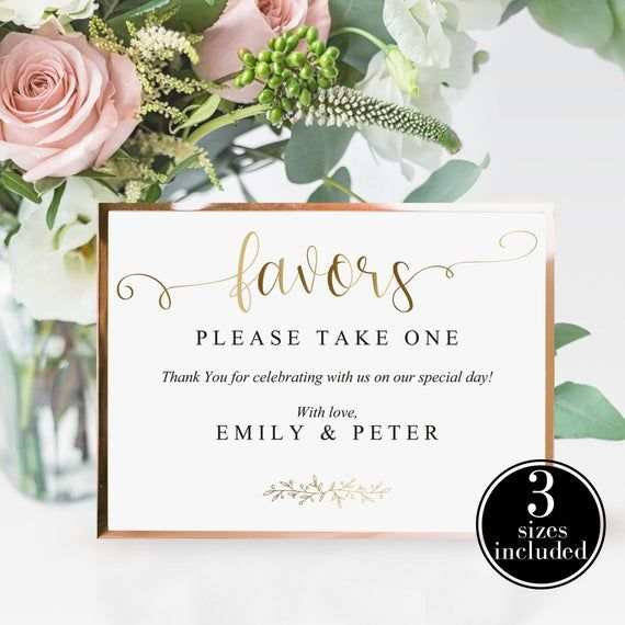 Wedding Favor Sign, Shower Favor Sign, Birthday Party Favor Sign Printable Favor Printable Wedding Signage Wedding Template Instant Download