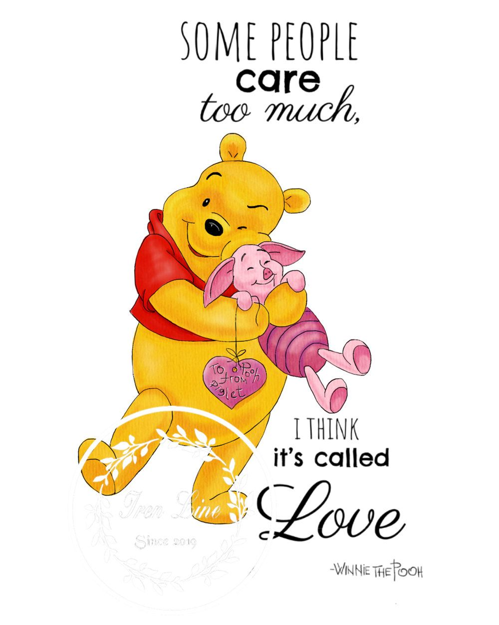 Some People Care Winnie The Pooh Quote Print Nursery Wall Art