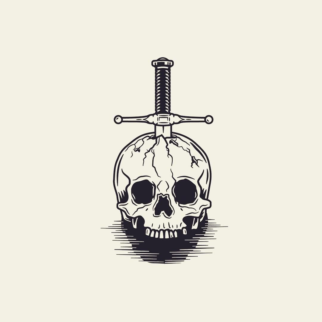 Grim death #illustration #graphicdesign #art #artwork #creative #skull #sword #horror #movie #norrland #skellefteå #lundstrom85