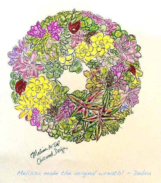 Photo of Succulent wreath illustration