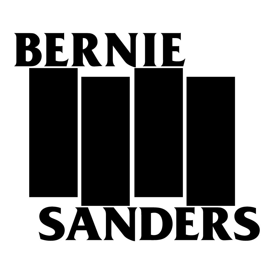 Bernie Black Flag Shirt White With Black Logo Custom Ink Fundraising Black Logo Flag Shirt Custom Ink
