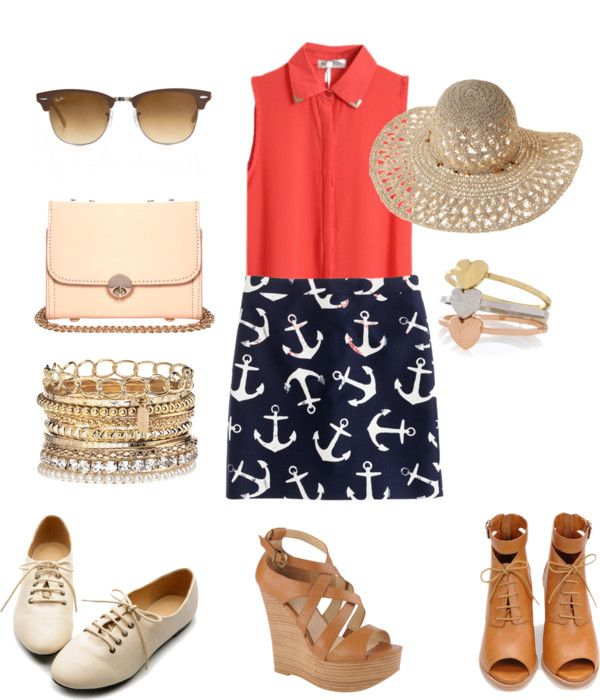 """nautical summer"" by haya18 on Polyvore"