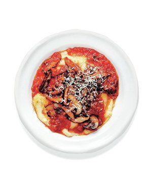 Mushroom Ragoût Over Creamy Quick Polenta | RealSimple.com