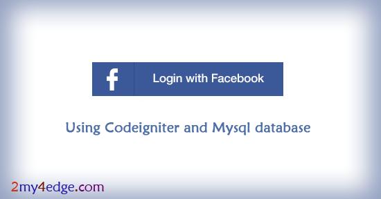 Facebook login / Register script using codeigniter php