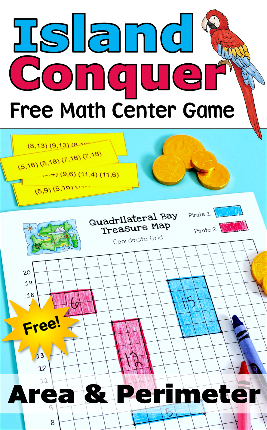 Island Conquer Free Pirate Themed Math Center Game Math Center Games Area Math Games Fun Math Activities [ 1426 x 888 Pixel ]