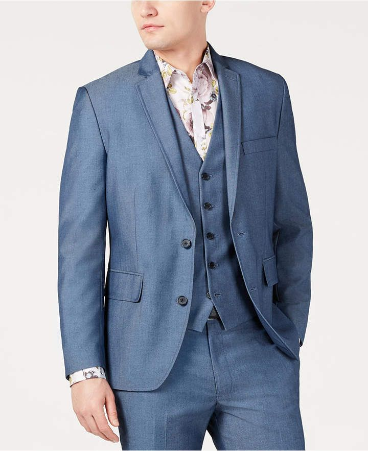 86b1495d34 I.n.c. Men's Slim-Fit Blazer, Created for Macy's - Blue S in 2019 ...