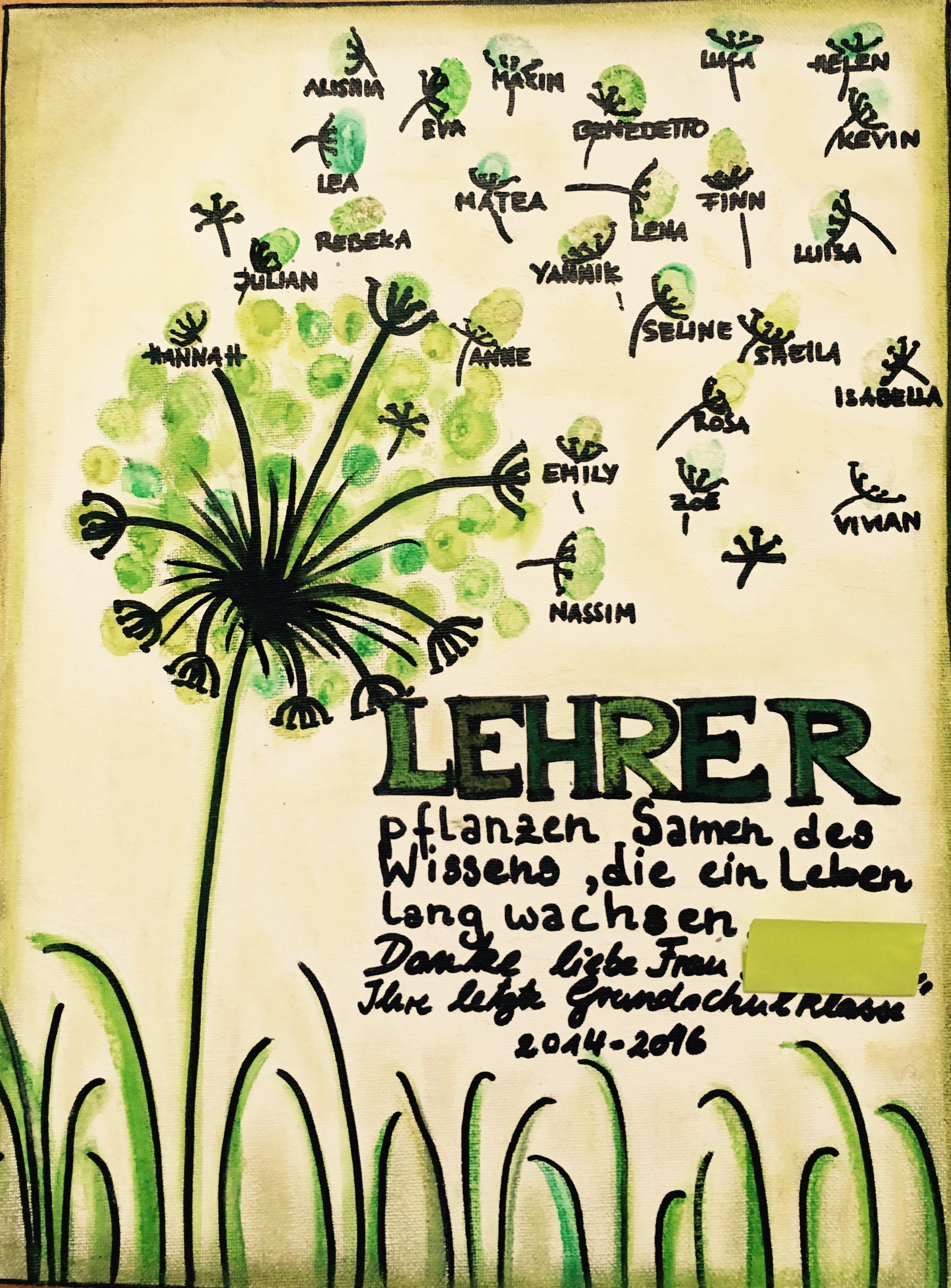 Geschenk Lehrer/ Lehrerin Grundschule Kindergarten | KiTa ...
