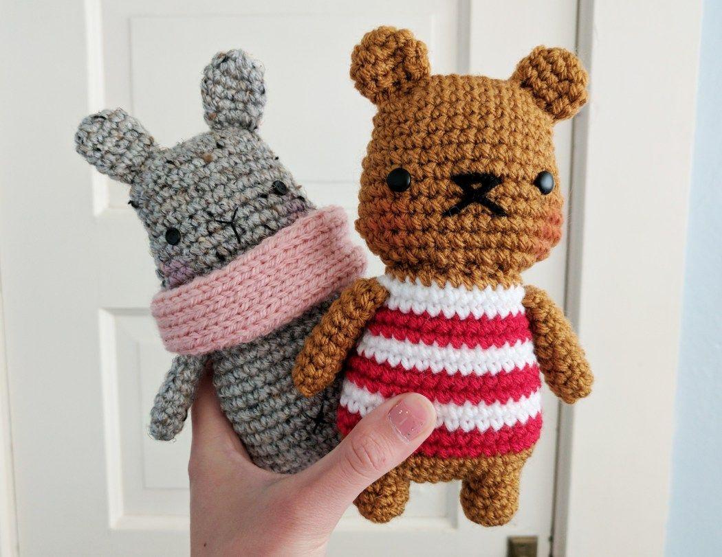 oso patrón de crochet libre y amigurumi conejito | Amigurumis ...