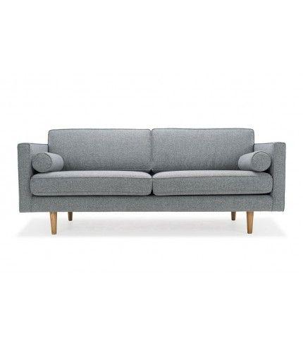 Harper 3 Zits Zetel Liby Stone Smoked Oak Legs Sofa 3 Seater Sofa Sofa Company