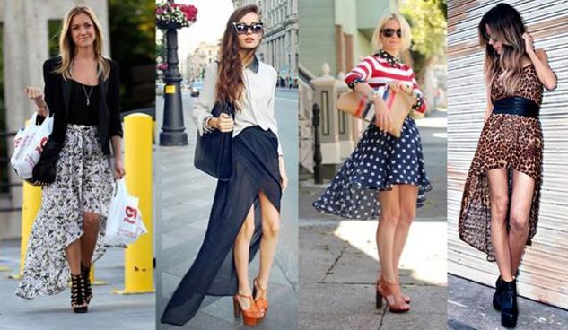 Saia Irregular #saia #look #fashion #moda #estilo #bonito