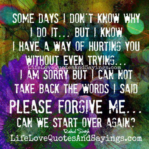 I Am Sorry I Love U Quotes: Best 25+ Forgive Me Please Ideas On Pinterest