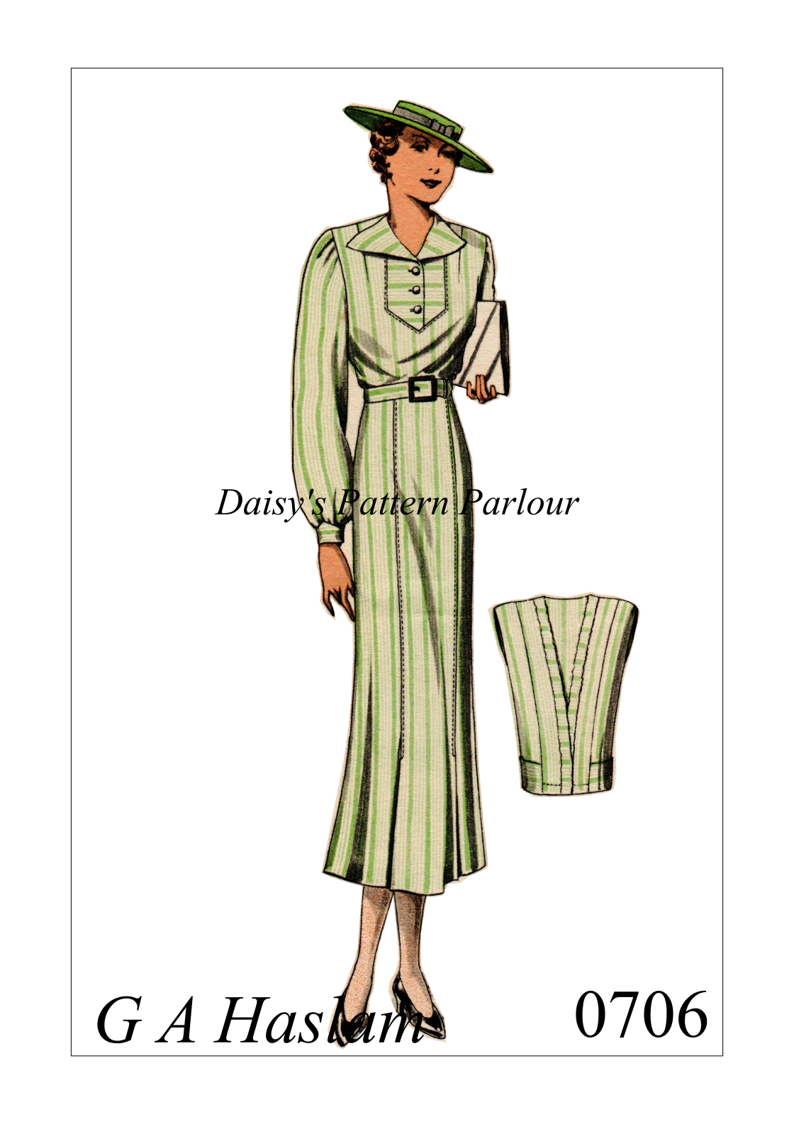 For more multi-sized vintage sewing patterns follow the link to ...