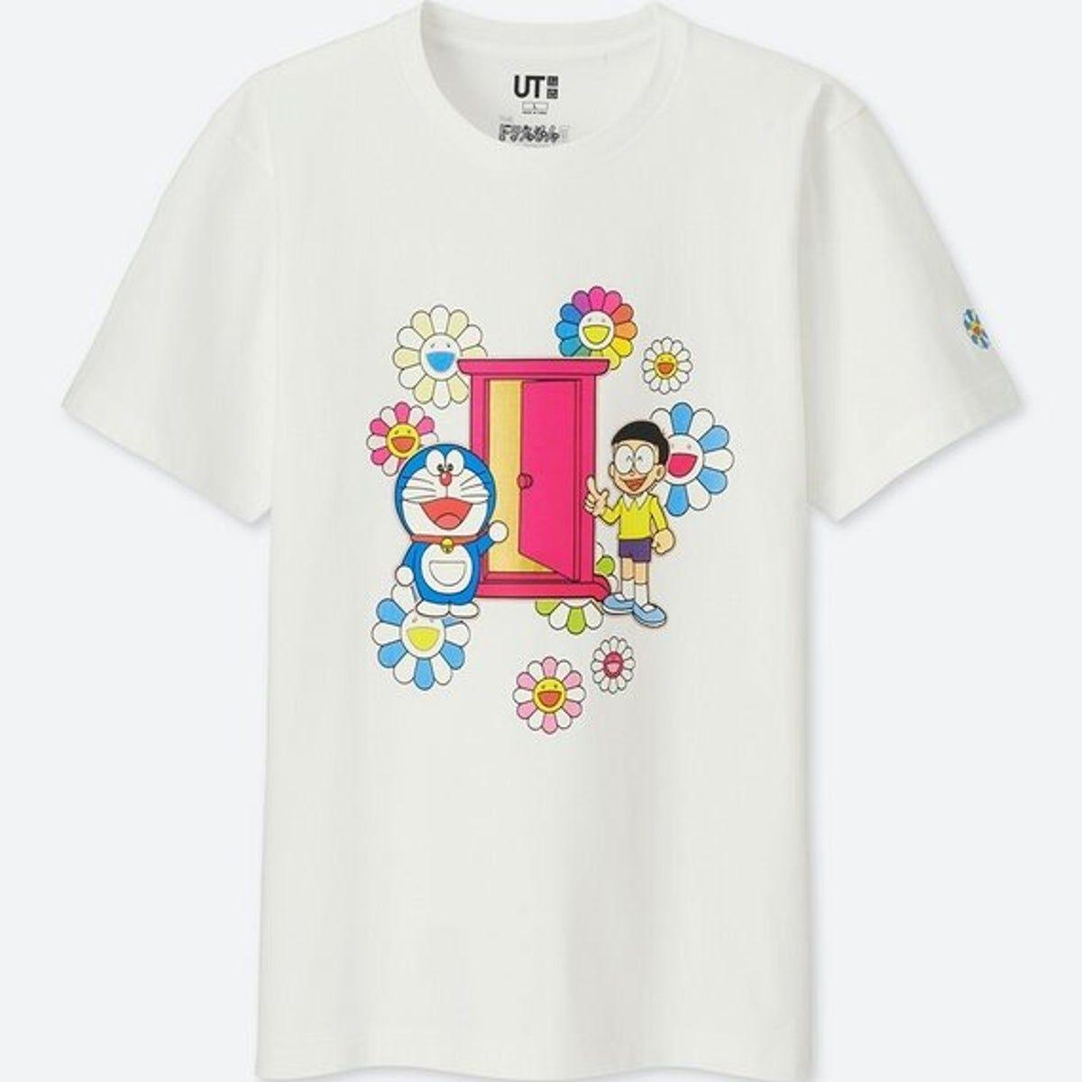 new uniqlo doraemon white t shirt size s uniqlo doraemon takashi murakami
