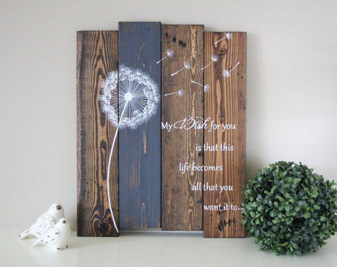 Inspirational rustic reclaimed wood signs & home decor von TinHatDesigns