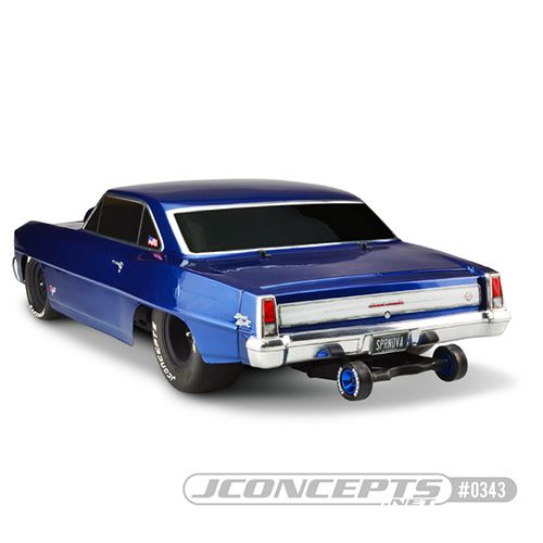 JConcepts 1966 Chevy II Nova Clear Body Set For Traxxas