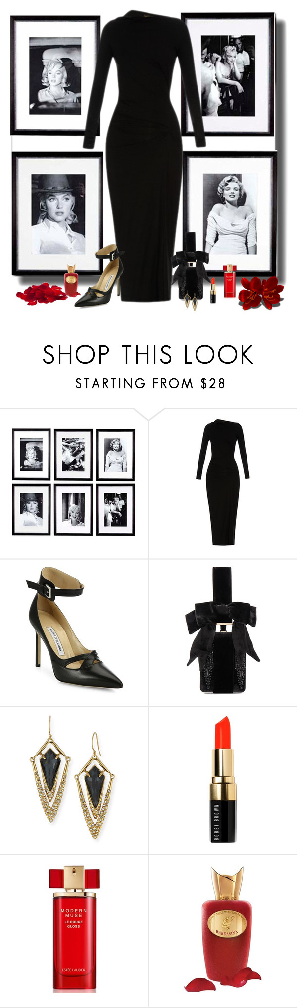 """Marilyn"" by whiteflower7 ❤ liked on Polyvore featuring Eichholtz, Vivienne Westwood Anglomania, Manolo Blahnik, Givenchy, Alexis Bittar, Bobbi Brown Cosmetics, Estée Lauder and Sospiro"