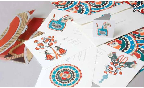 madhubani style wedding card  creative wedding
