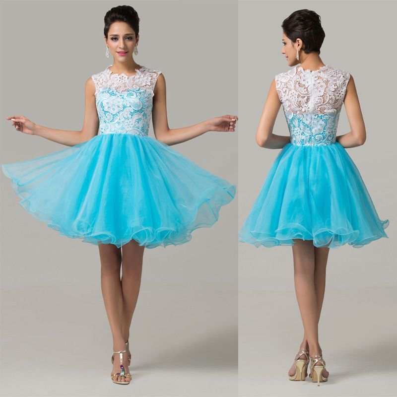 CHEAP short Evening Prom Bridesmaid Dress Homecoming Formal Ball ...