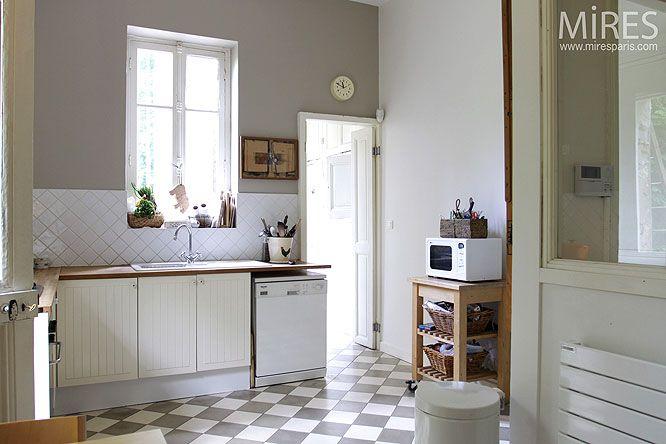 conseils carrelage cuisine ancienne carreaux ciment   Cuisine ...