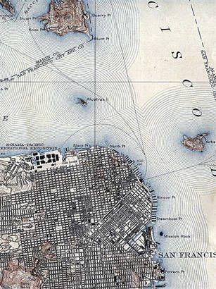 Map Of San Francisco Vintage Maps Pinterest San Francisco - Vintage sf map