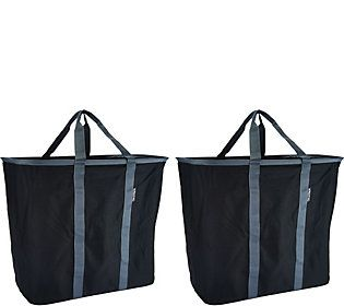Snapbasket Set Of 2 Laundry Totes By Clevermade Qvc Com