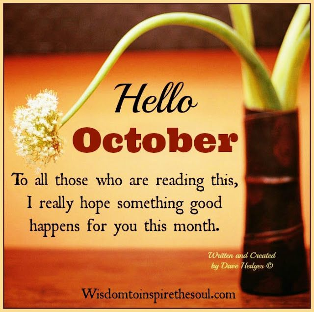Daveswordsofwisdom Hello October