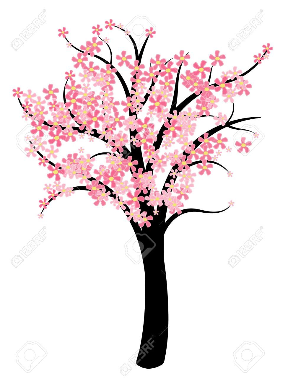 Simple tree vector natural symbol illustration spring cherry illustration of simple tree vector natural symbol illustration vector art clipart and stock vectors biocorpaavc