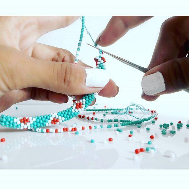 Roll On Glass Beaded Nepal Bracelets Handmade In Nepal Lotus Sky