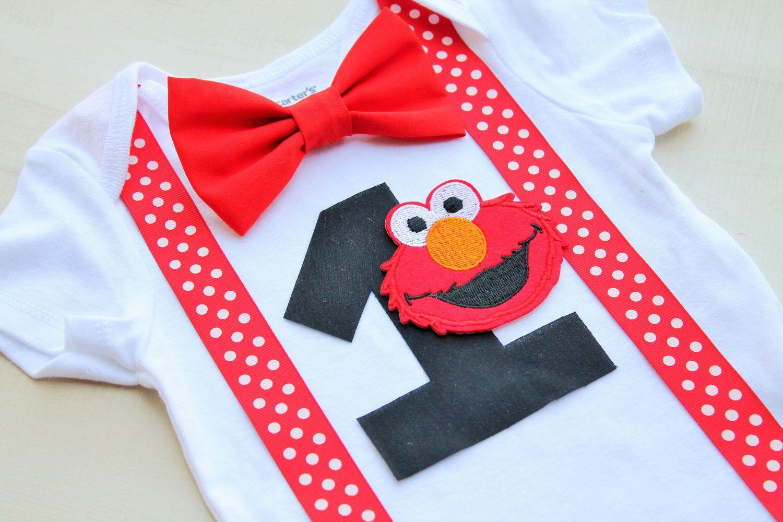 Elmo Birthday Outfit, First Birthday Outfit Boy, Elmo