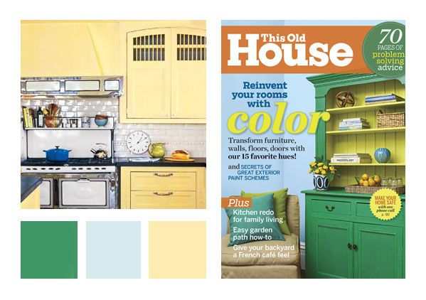 """Sherwin Williams pics for more timeless colors:   The """"15 Favorite Hues"""" included three Sherwin-Williams colors — Tidewater (SW 6477), Lucky Green (SW 6926) and Midday (SW 6695)."""