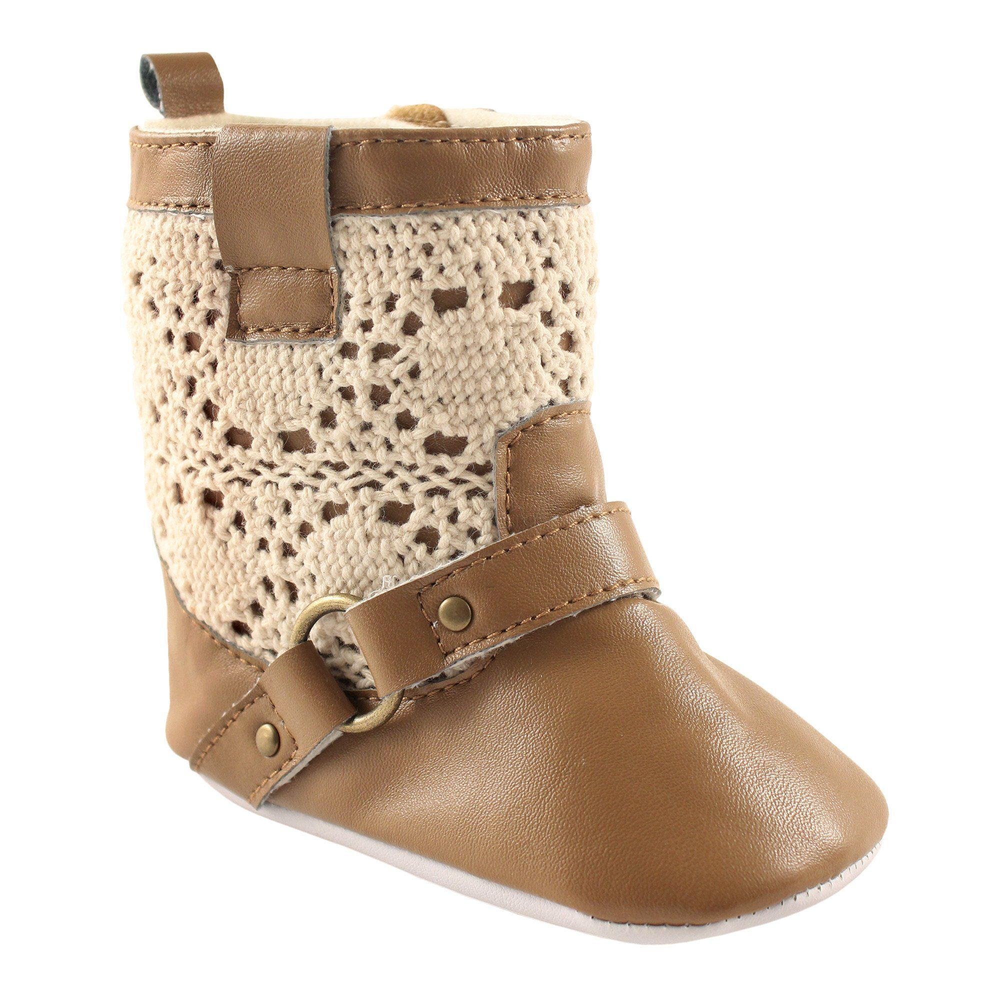 Luvable friends girlsu crochet lace boot tan months m us