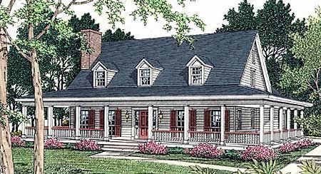 Miraculous Top 25 Ideas About One Story Ranch Farmhouses With Wrap Around Largest Home Design Picture Inspirations Pitcheantrous