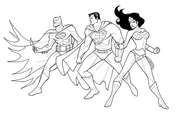 Wonder Woman 86 Super Heros Ndash Coloriages A Imprimer