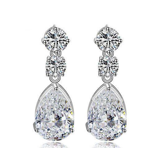 Fashion cz diamond wedding earrings