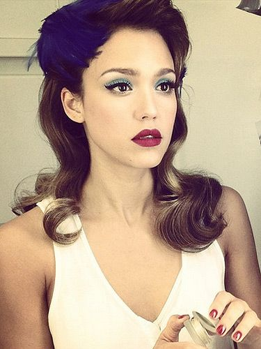 Blue Eyeshadow Berry Lips Dark Red Lips Burgundy Lips Retro