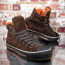 1de6ec6e8a26 Converse Mens All Star Leather Trainers Brown Orange sz 7 Waterproof Shoes  EU 40
