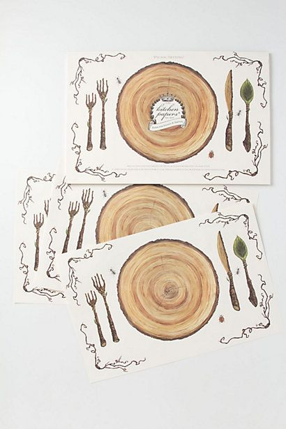 Bark Paper Placemats Place Cards Wedding Diy Placemats Thanksgiving Kids Table