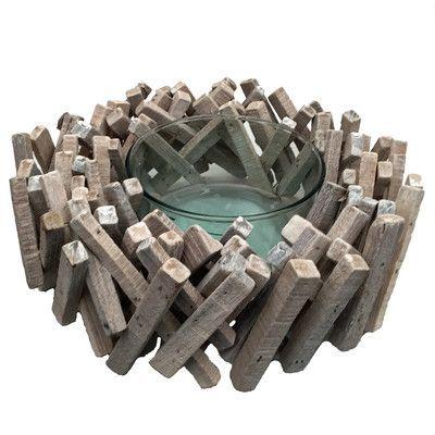 Eangee Home Design Driftwood 22 Piece Acacia Stick Bowl Set Finish: Whitewash